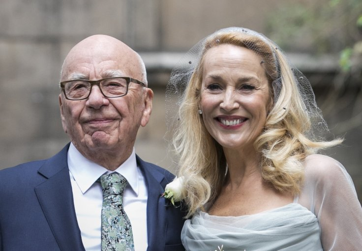 Jerry Hall Marries Media Mogul Rupert At St Brides Church