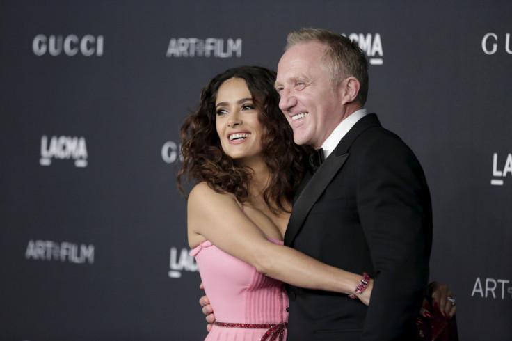 Actress Salma Hayek (L) and her husband businessman Francois-Henri Pinault