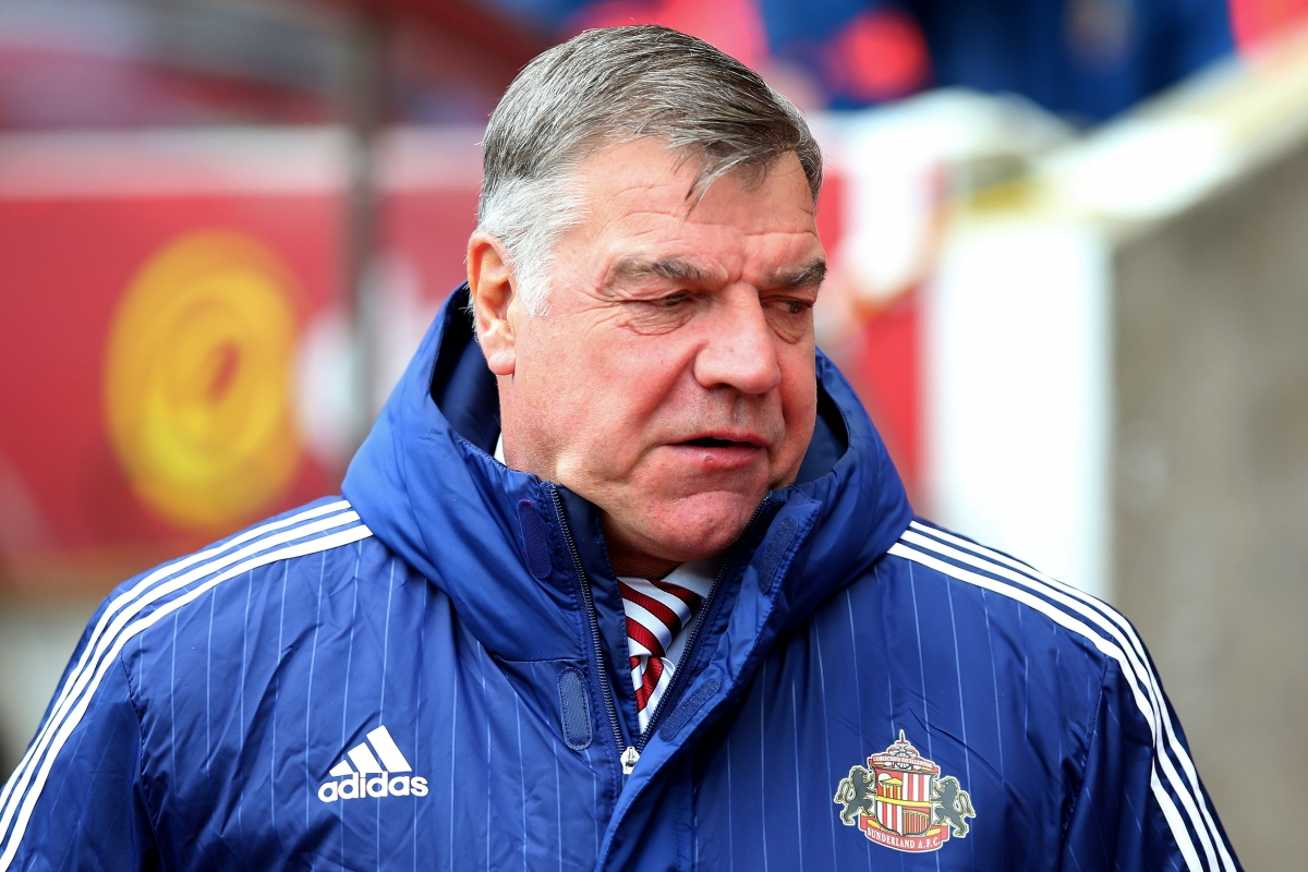 The Sunderland boss watches on