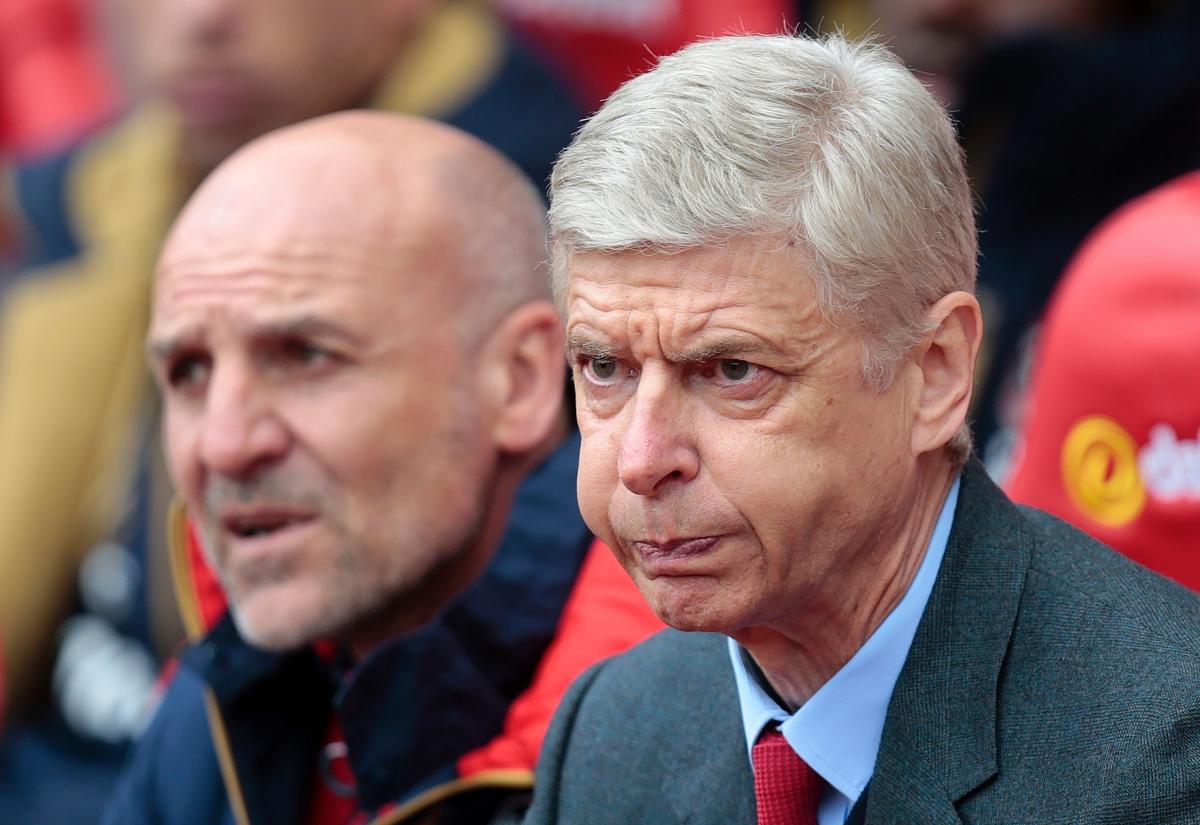 Arsene Wenger looks frustrated