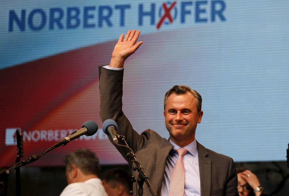 Austrian far right Freedom Party (FPOe) presidential candidate Norbert Hofer