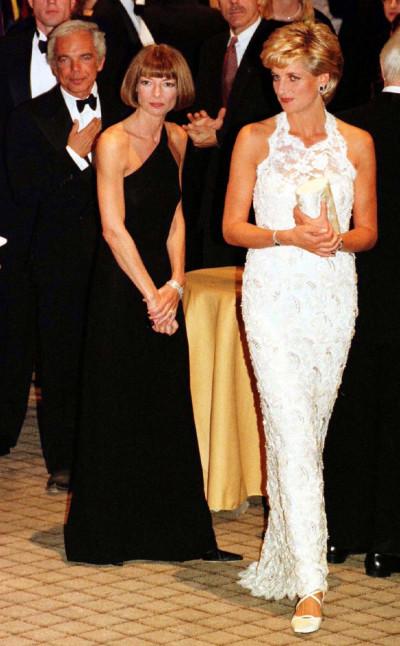 Princess Diana, Anna Wintour and Ralph Lauren 1996