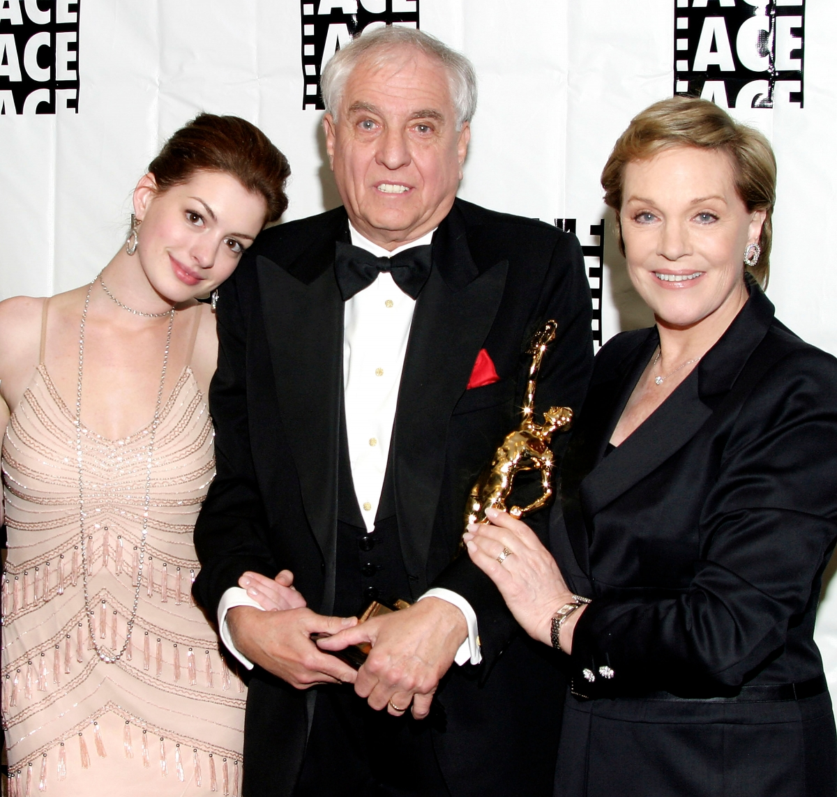 Anne Hathaway, Garry Marshall and Julie Andrews