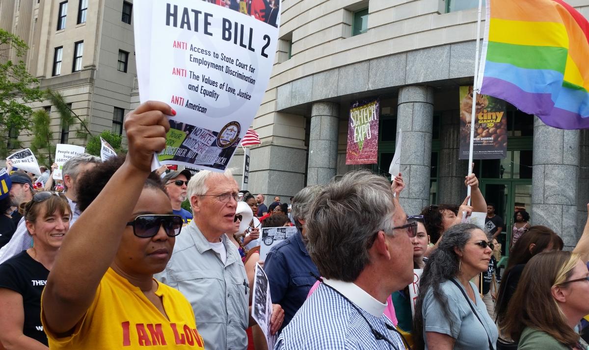 Anti LGBT bill protest