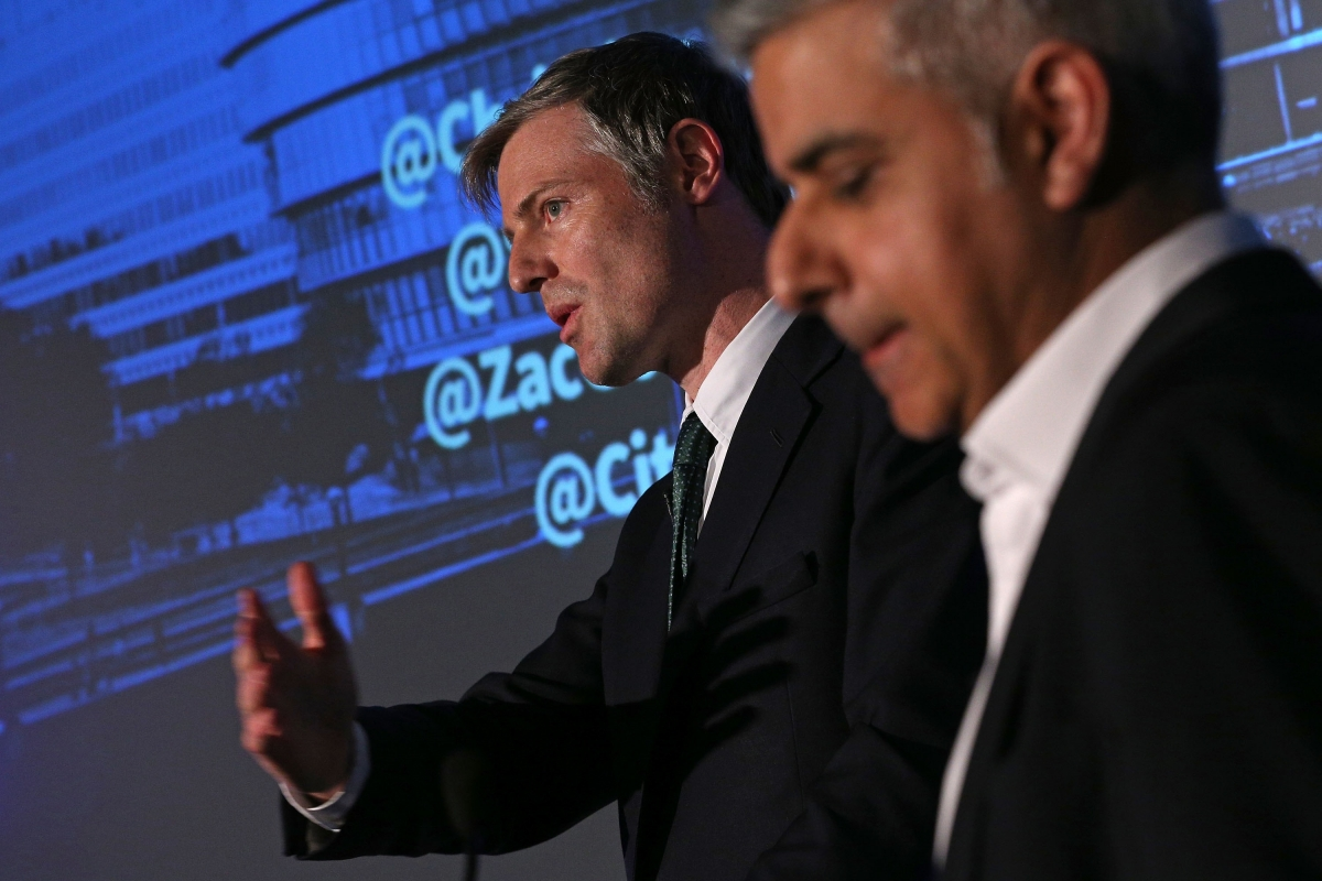 Zac Goldsmith Sadiq Khan London