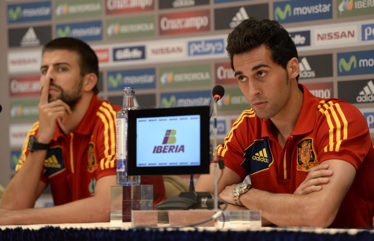 Gerard Pique and Alvaro Arbeloa