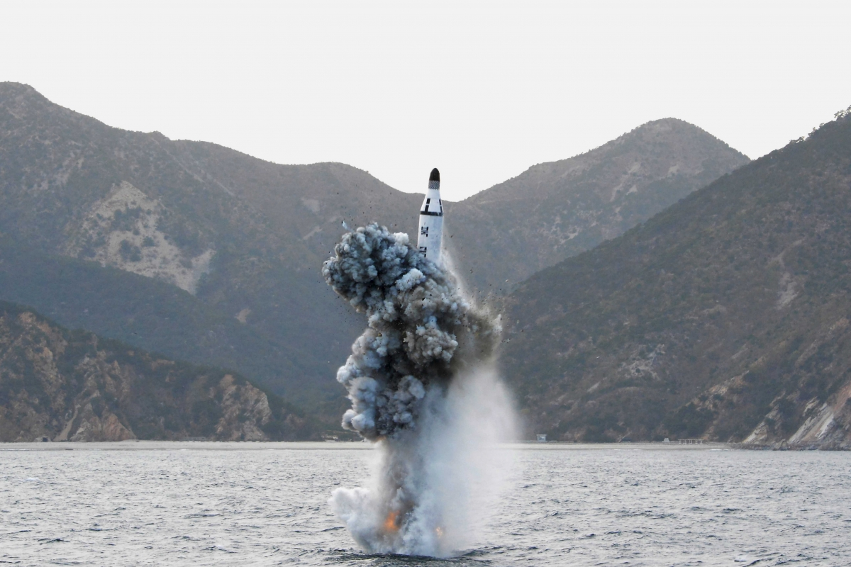 North Korea submarine missile launch