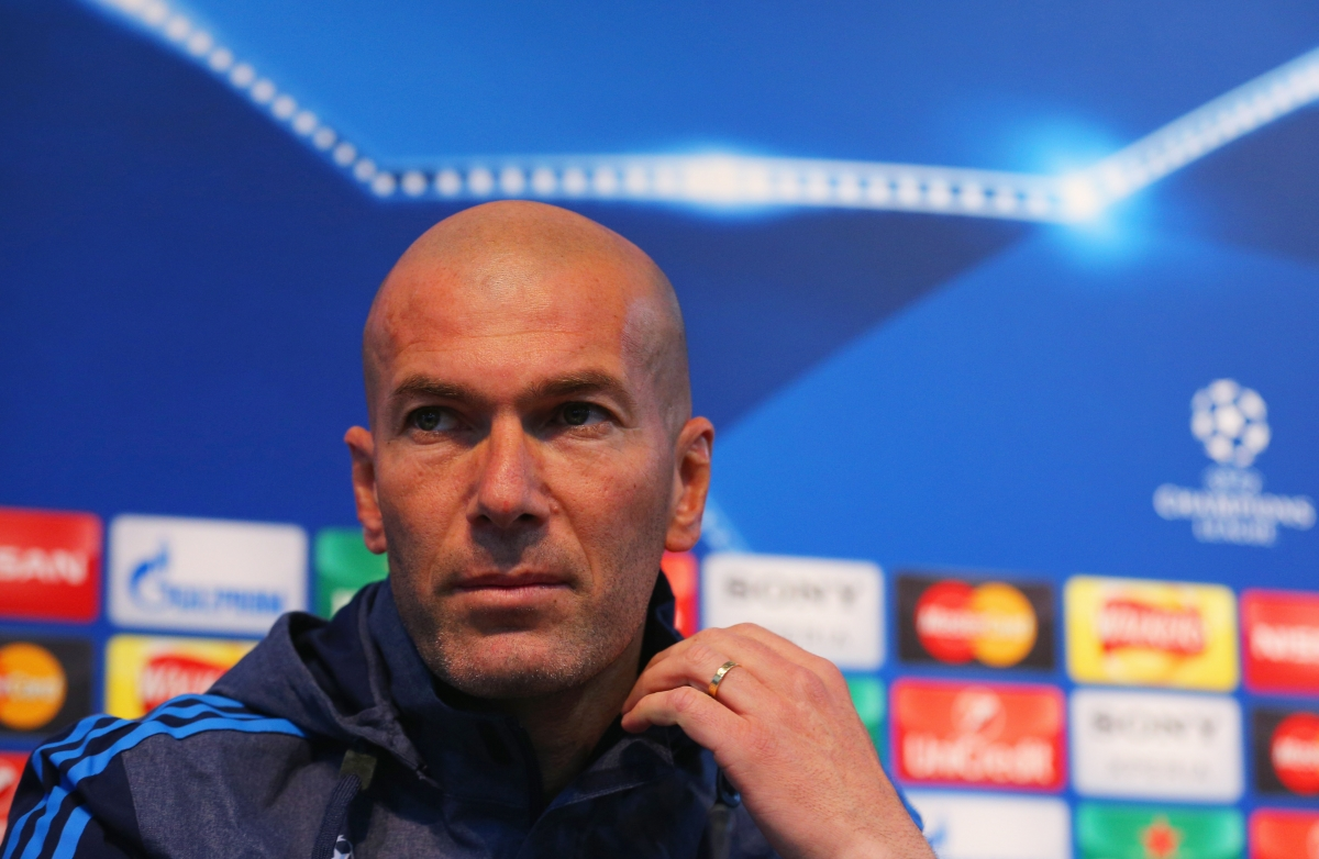 Zidane during the pre-match press conference