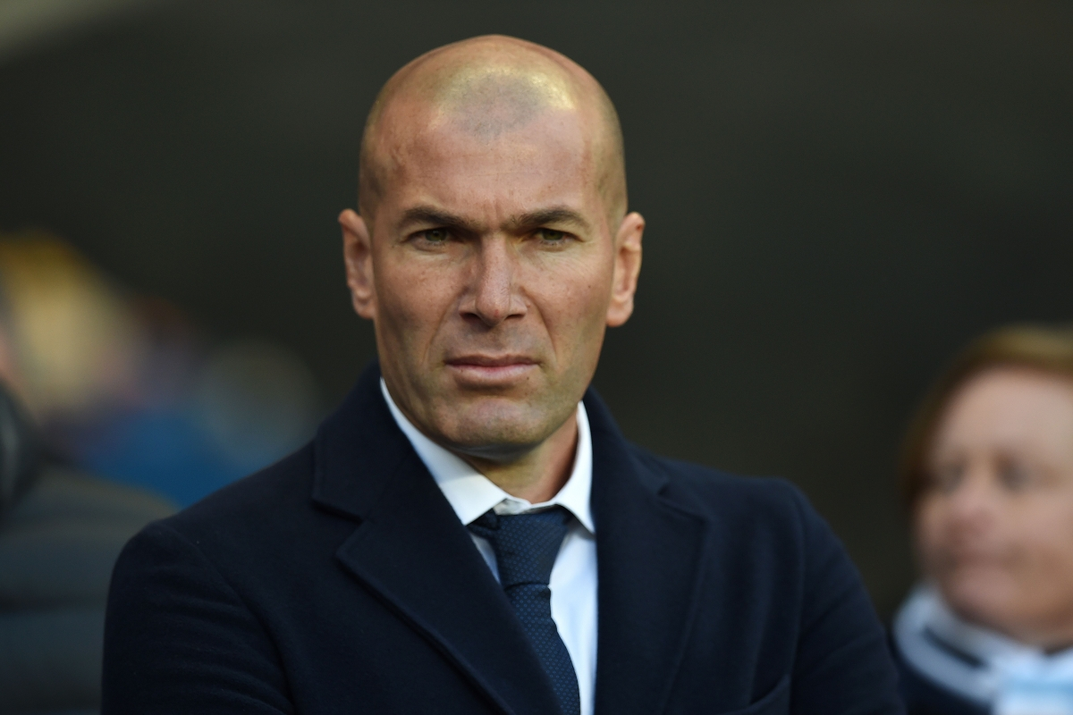 Zidane watches the action