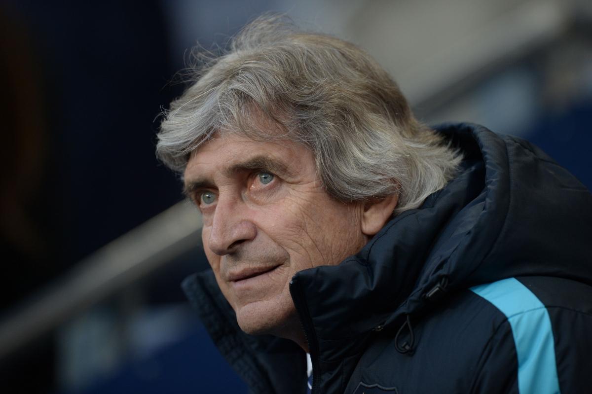 Manuel Pellegrini looks anxious