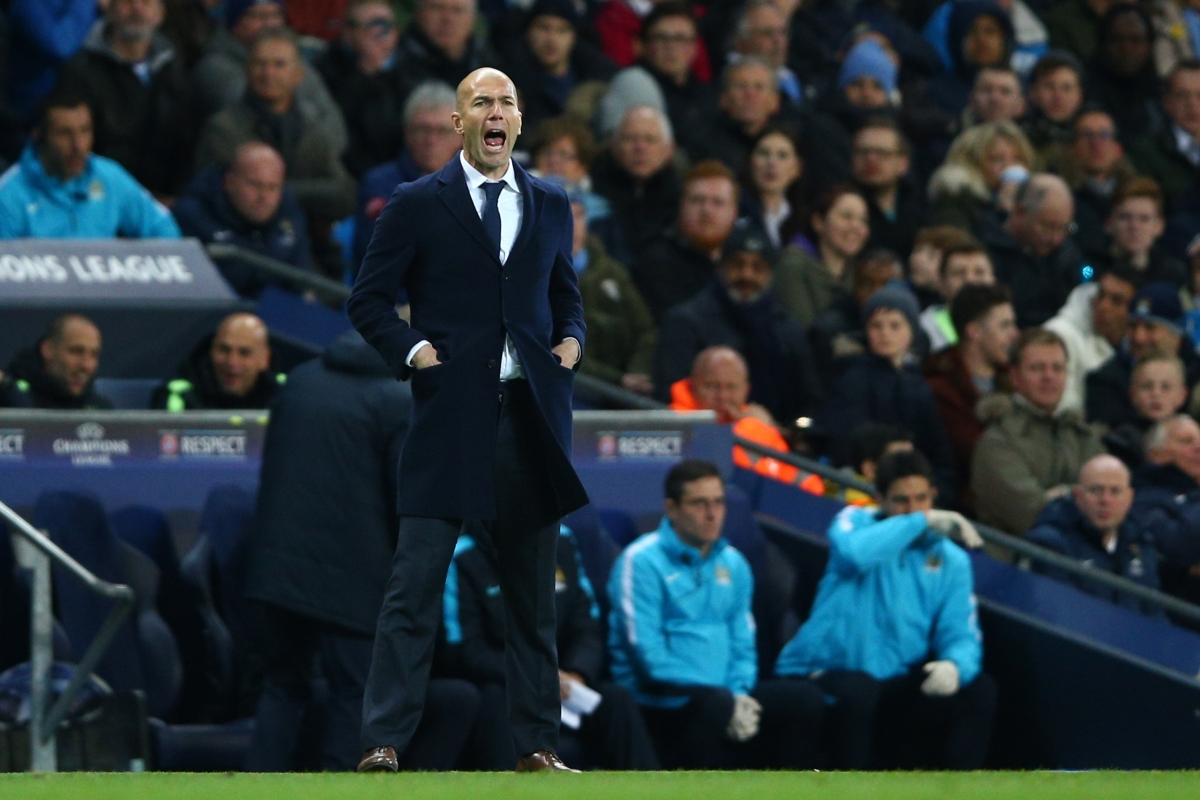 Zidane barks instructions to his team