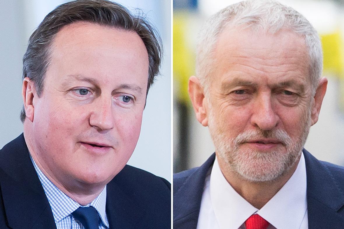 David Cameron, Jeremy Corbyn