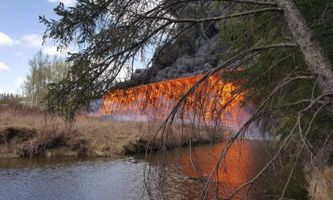 Bridge fire