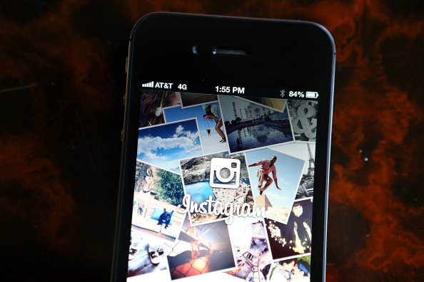 Instagram screenshots show new black and white design layout being tested out