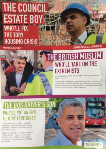 Khan's election leaflet