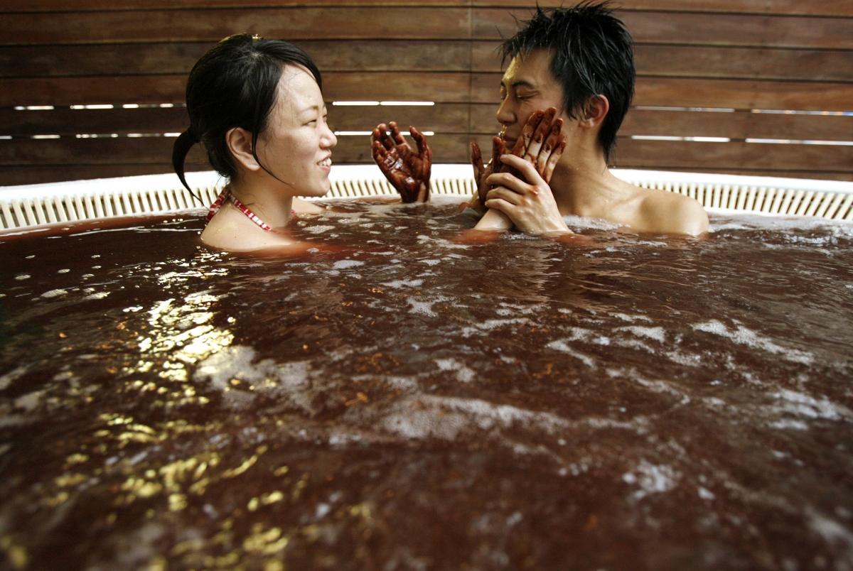 Chocolate bathers