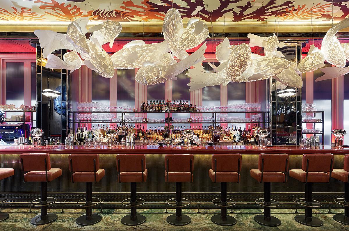 The bar at Sexy Fish