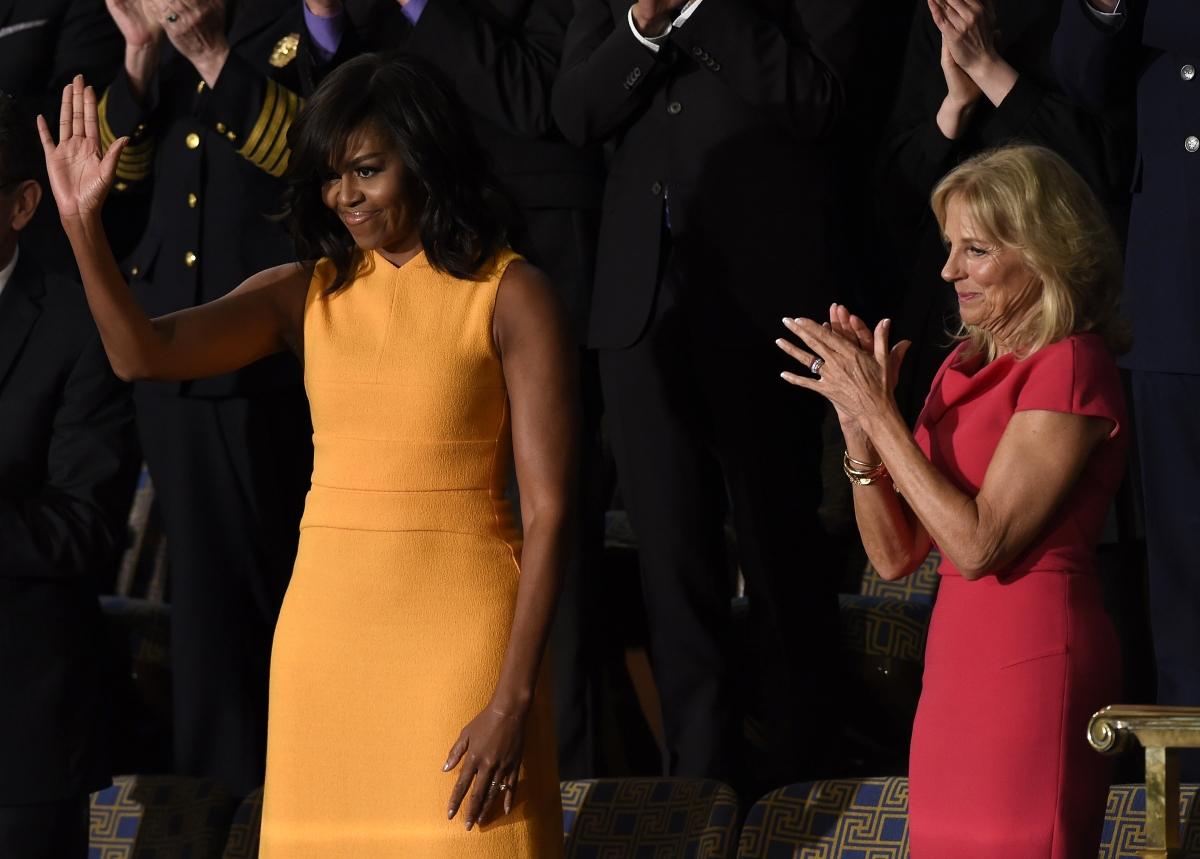 Michelle Obama and Jill Biden