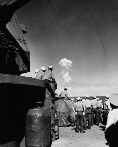 Bikini tests on USS ships