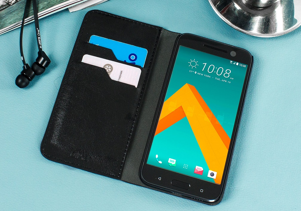 Olixar Leather Wallet HTC 10 case