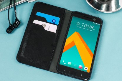Olixar Leather Wallet HTC 10 case