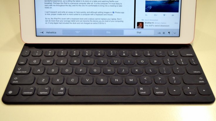 iPad Pro keyboard dock