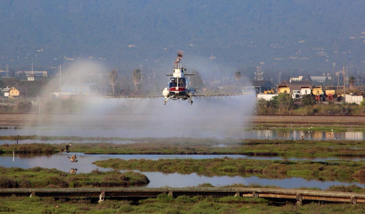 pesticide spray airplane