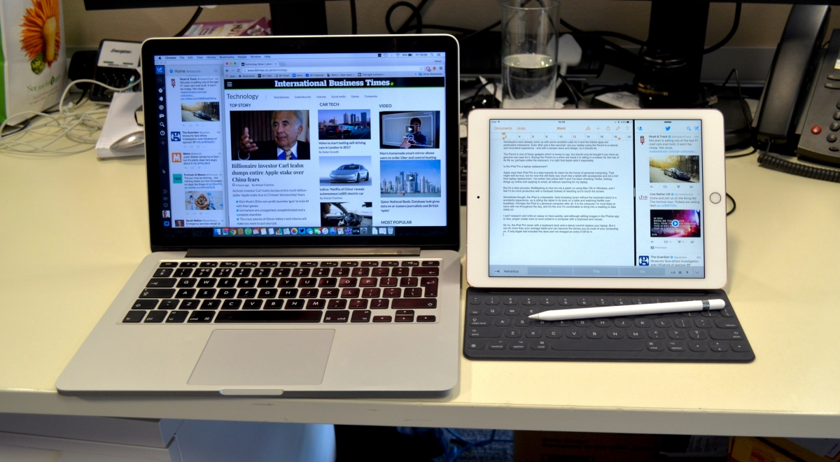 iPad Pro 9.7in and MacBook Pro 13.3in