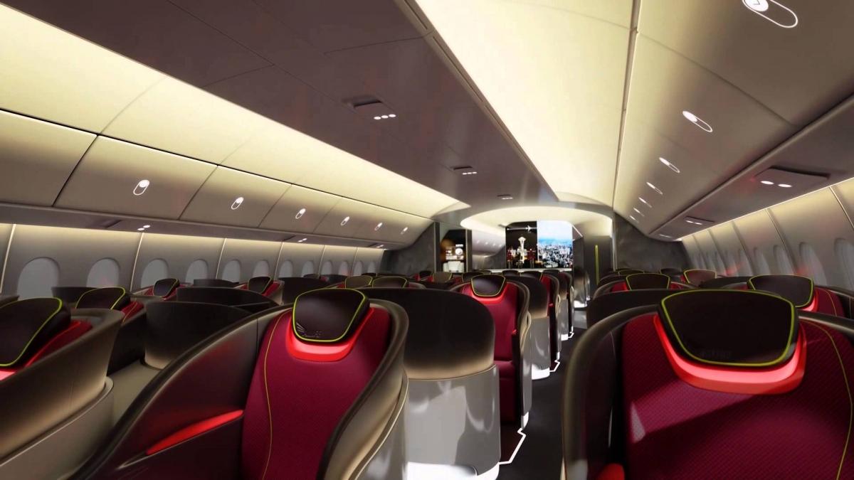 Boeing 777X cabin