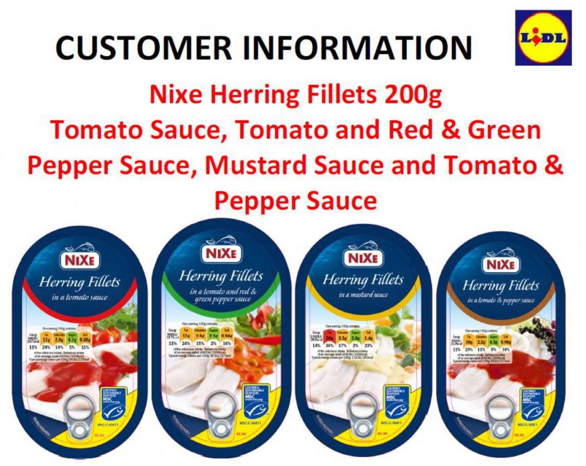 Lidl Nixe herring recall
