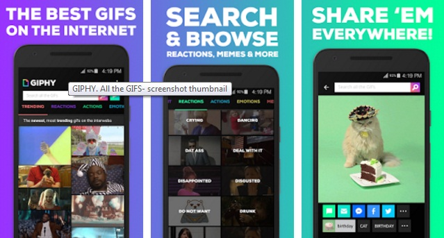 Giphy app for Android