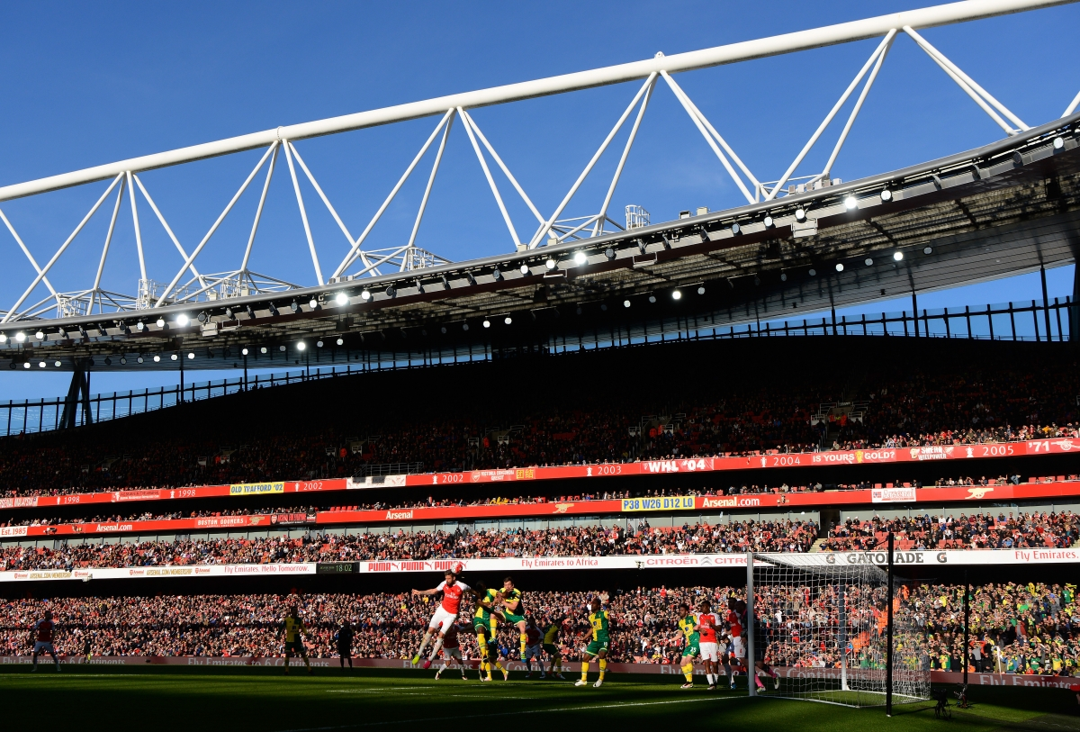 The scene at the Emirates