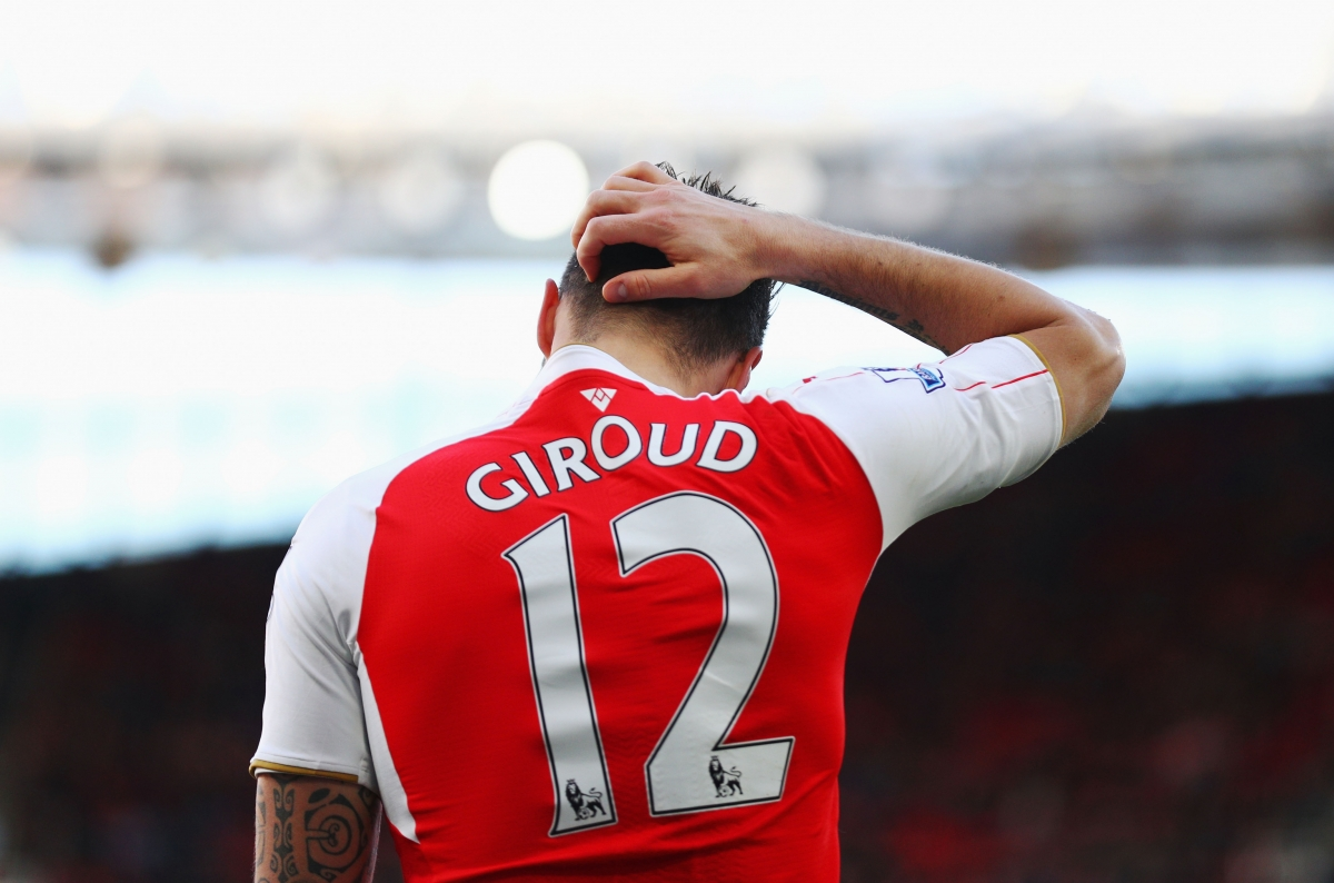 Giroud assisted Welbeck's goal