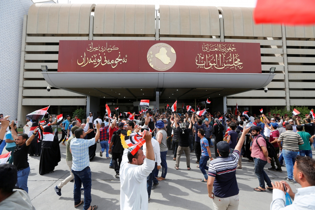 protesters baghdad