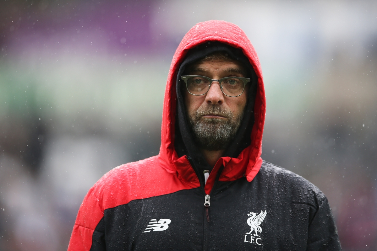 Jurgen Klopp watches on
