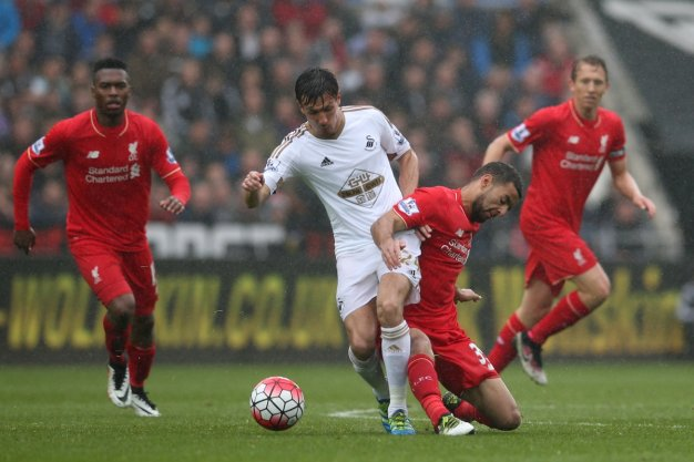 Jack Cork wins the ball