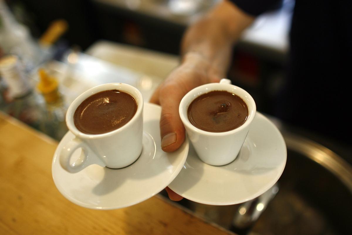 Waiter with coffee