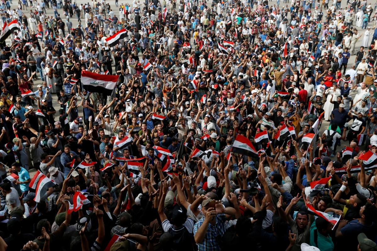Iraq Baghdad Green Zone protests