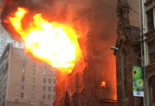 Huge fire ravages Serbian Orthodox Church in New York on Easter Sunday