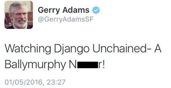 Gerry Adams racist tweet