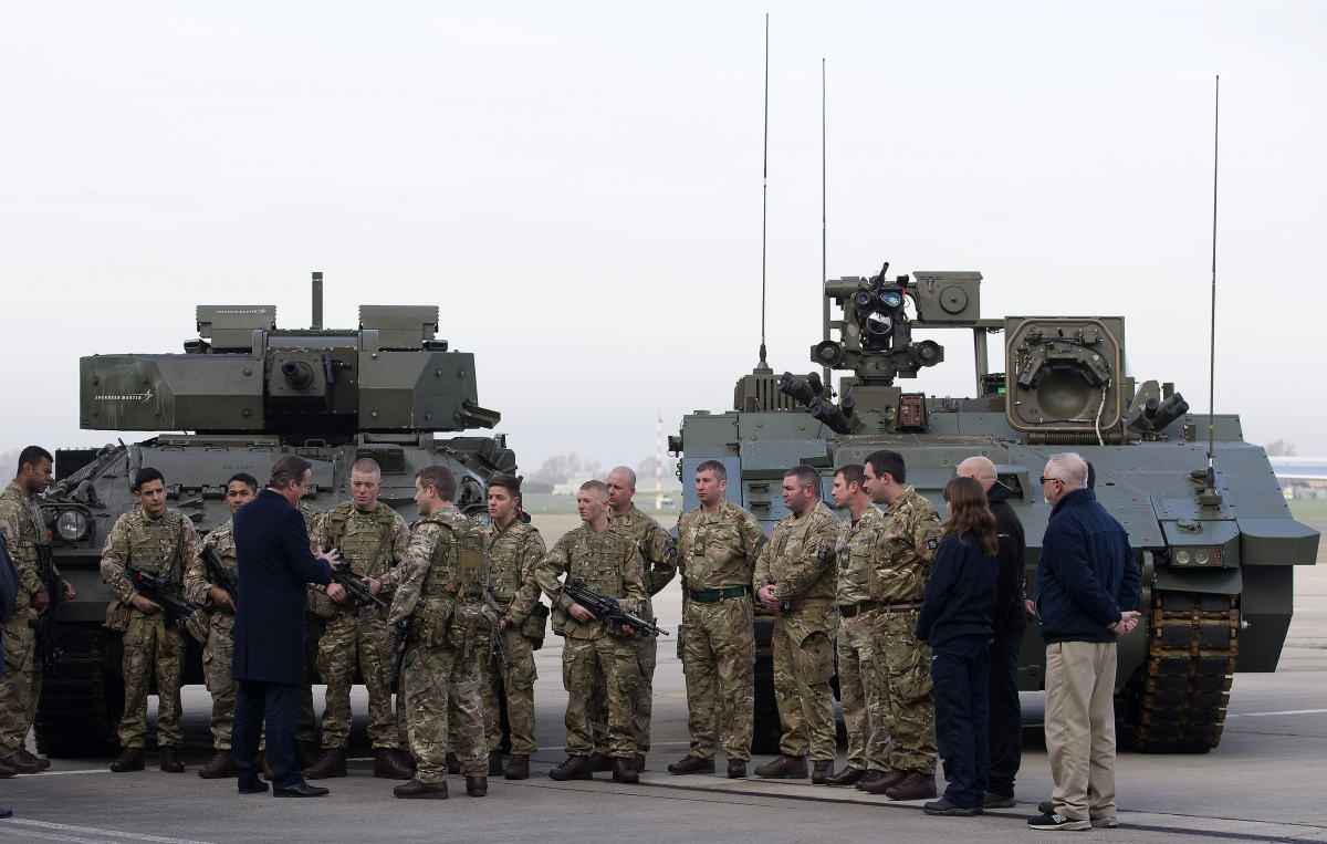 British Troops with PM Cameron