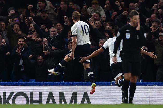 Harry Kane celebrates the opening goal
