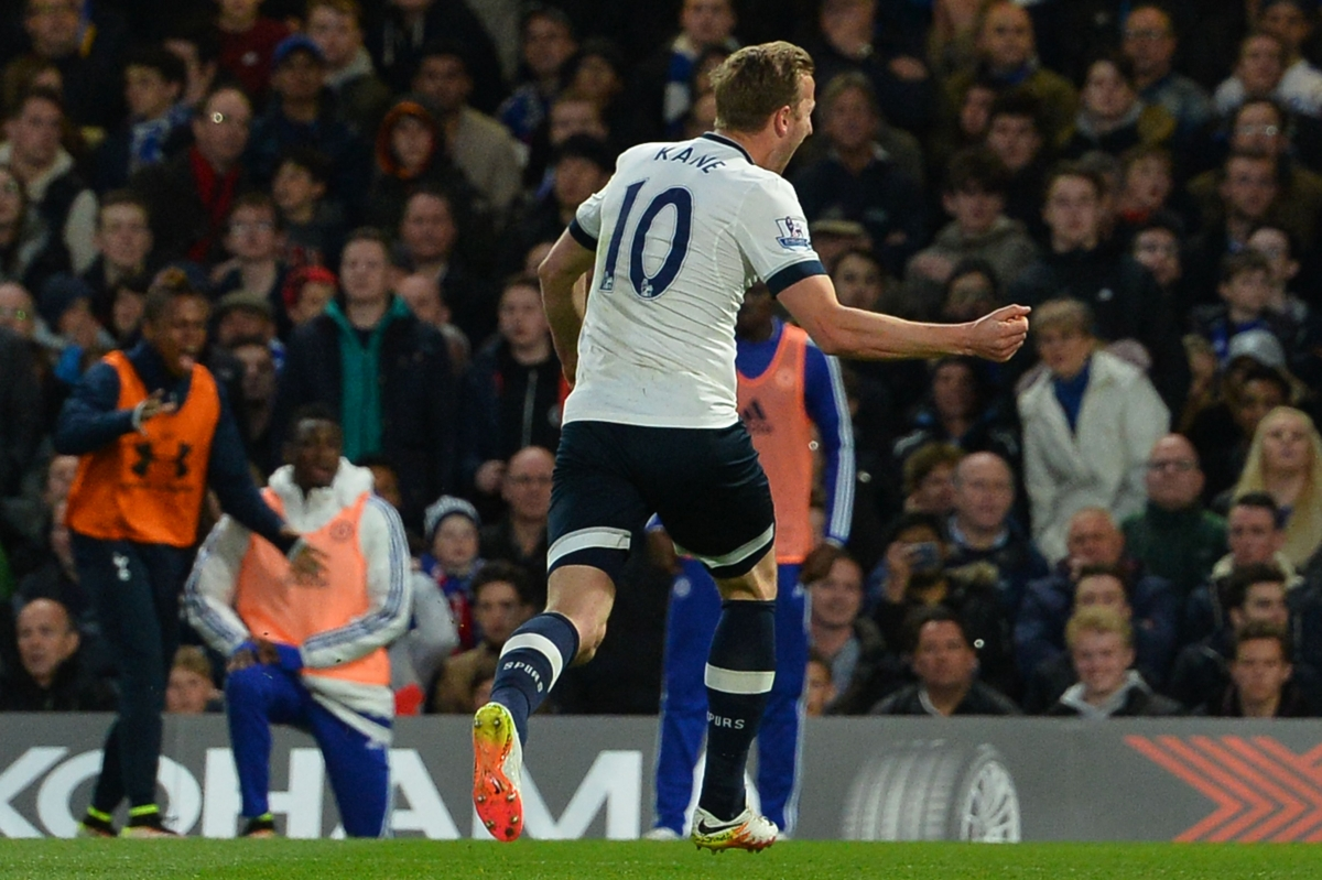 Kane celebrating the opening goal