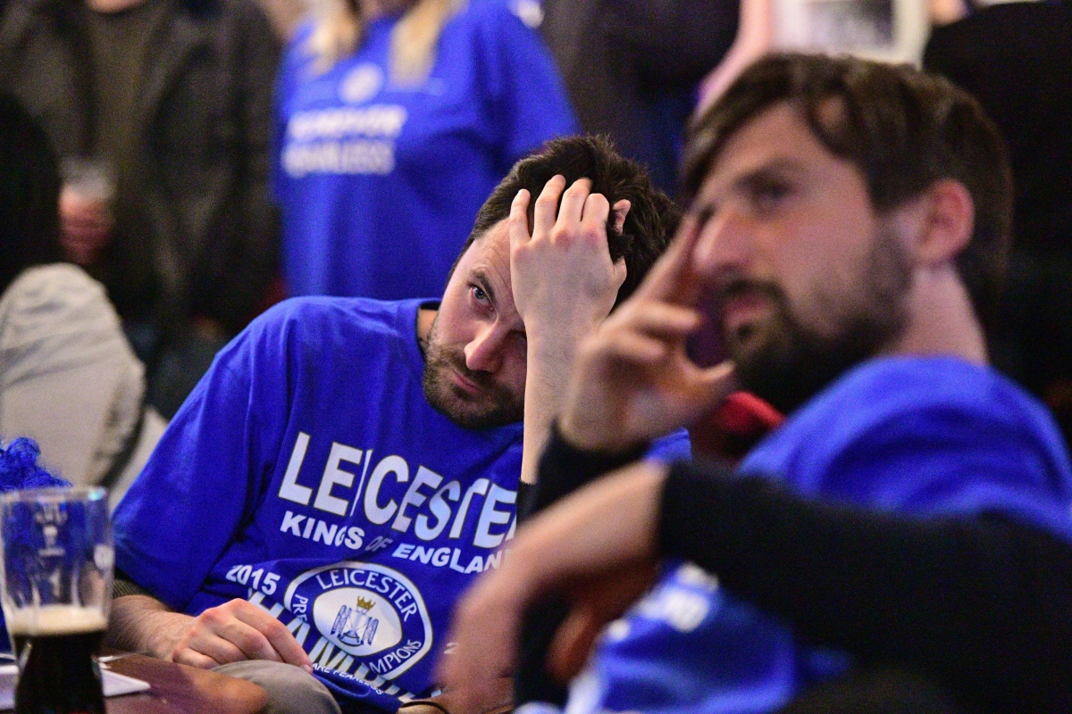 A Leicester fan struggles to watch