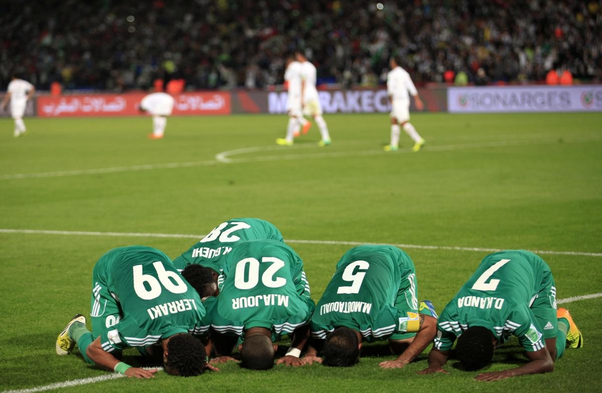 Muslim prayers on the pitch