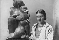 British sculptor Barbara Hepworth