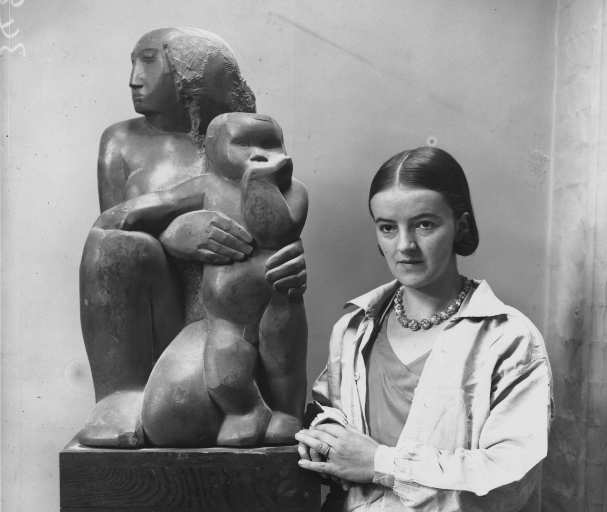 British sculptor Barbara Hepworth