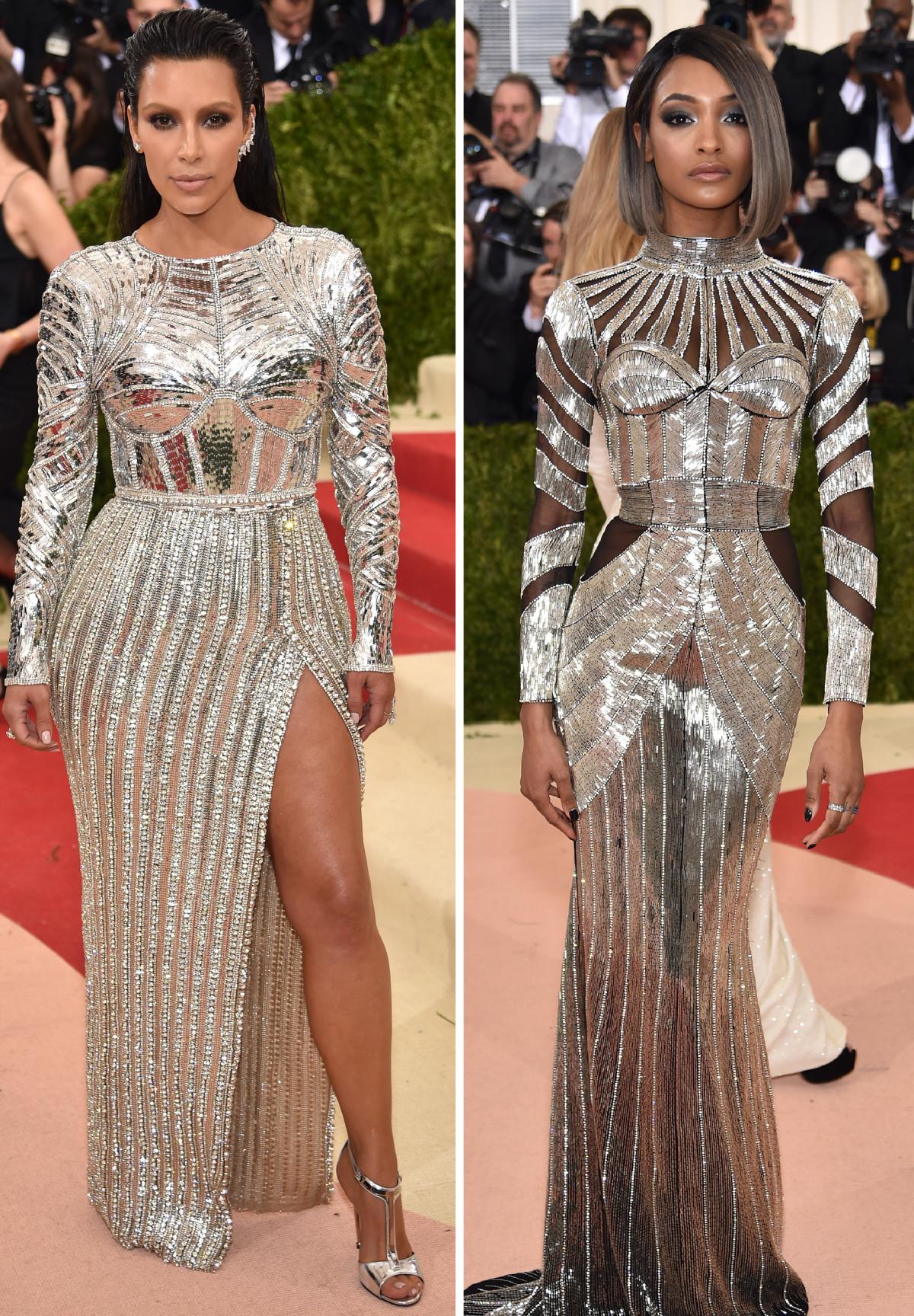 Kim Kardashian and Jourdan Dunn