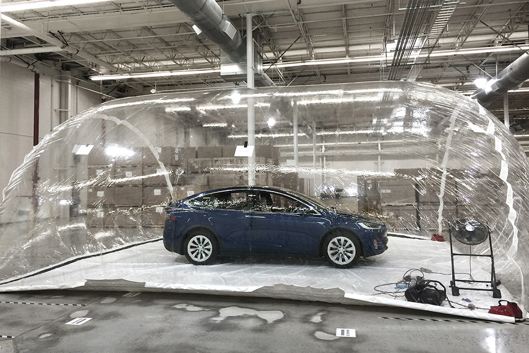 Tesla puts its Bioweapon Defence Mode to the test which can save drivers from a military-grade bio-attack