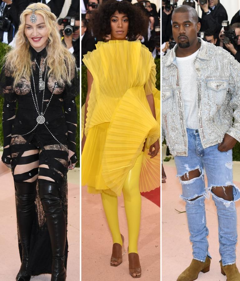 Madonna, Solange Knowles, Kanye West